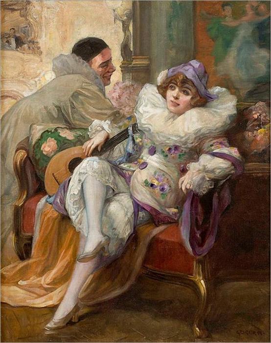 3 Geiger, Richard (1870-1945) - Pierrot and Columbine (554x700, 152Kb)