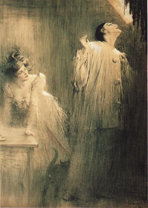 11 Charles Lеandre. Pierrot Et Colombine (497x700, 755Kb)