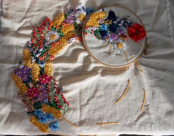 Добавить Вышивка лентами... васильки бесплатно схема вышивка, . крестом васильки схема . лентами; вышивка .