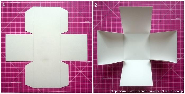 Видео как сделать коробочку из одного картона своими руками