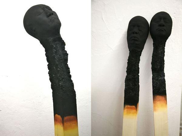 Вольфганг Стиллер. Скульптуры «Люди-спички»