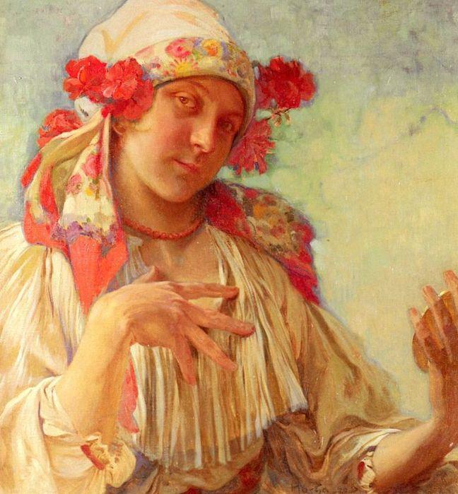 Девушка в чешском костюме (648x700, 80Kb)