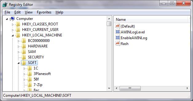 Теперь вы знаете, где находится реестр Windows 7 и Windows XP. Зайти.
