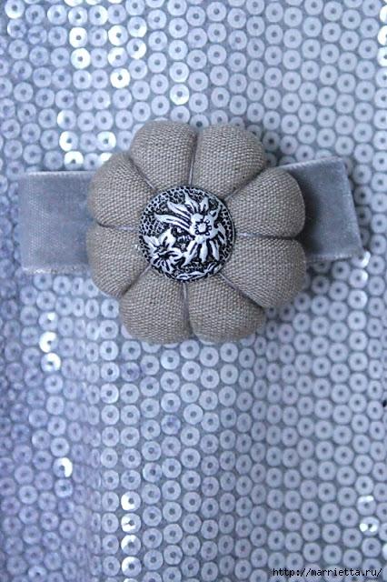 круглые цветы из ткани (55) (426x640, 223Kb)