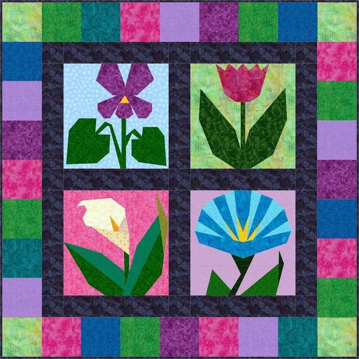Схемы цветов в пэчворке фото