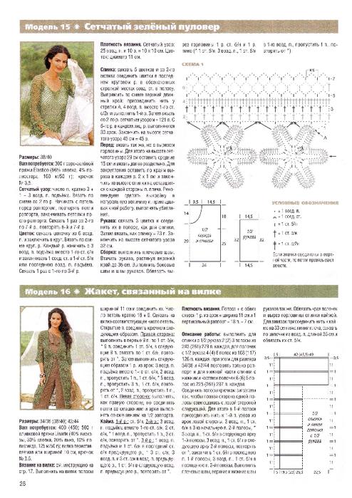 Схемы вязания крючком журнал сабрина
