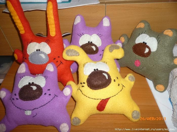 Прикольные игрушки из флиса своими руками