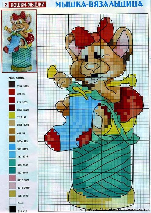 мышка вязальщика40 (495x700