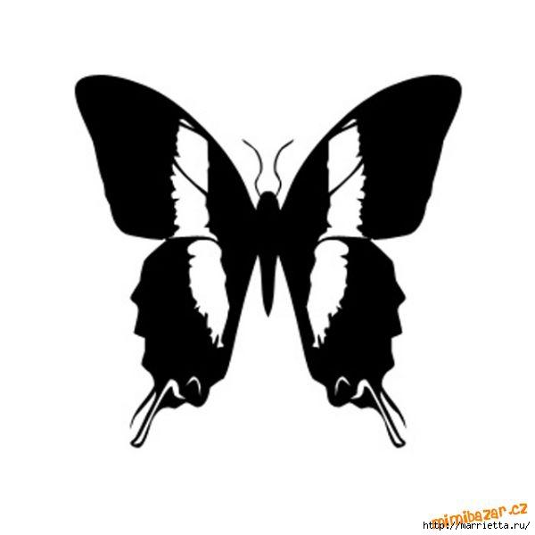 шаблоны бабочек (5) (600x600, 48Kb)