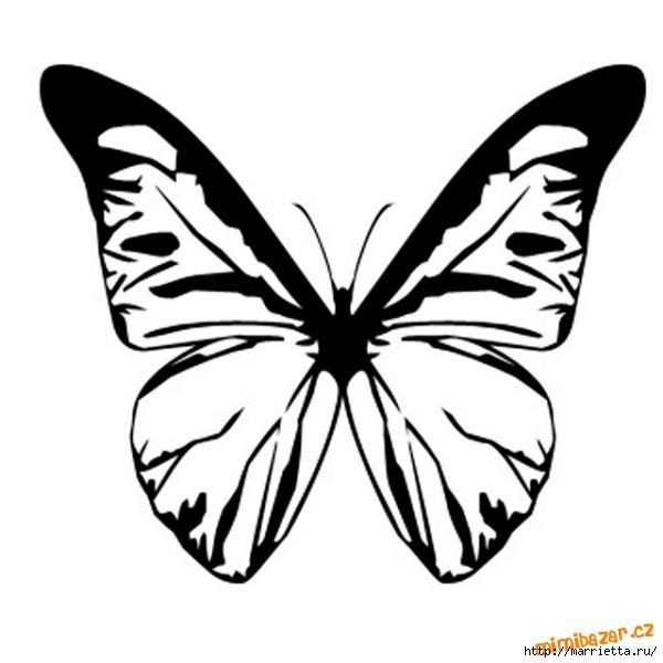 шаблоны бабочек (7) (600x600, 88Kb)