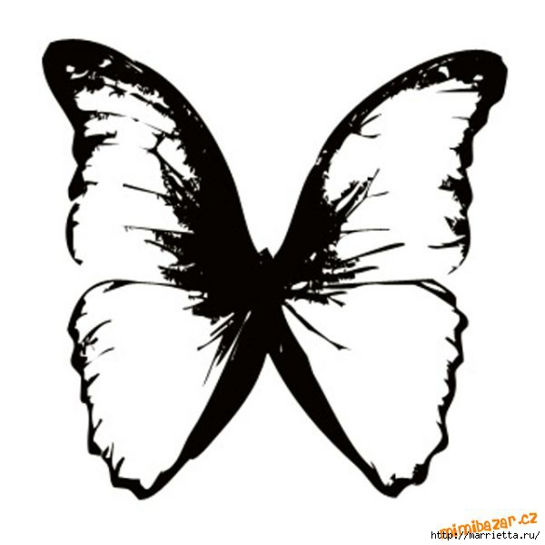 шаблоны бабочек (8) (600x600, 82Kb)