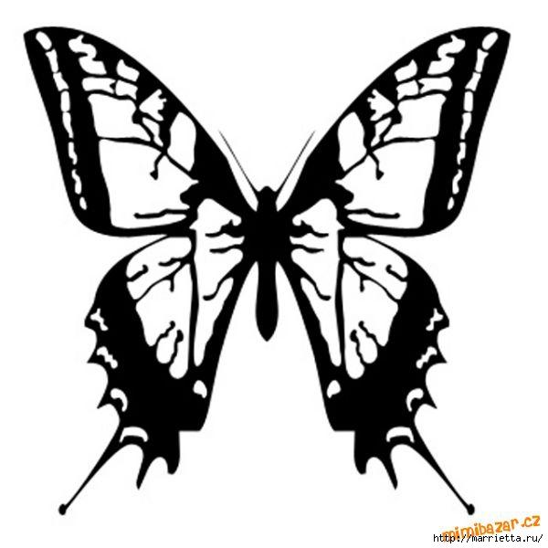 шаблоны бабочек (10) (600x600, 91Kb)