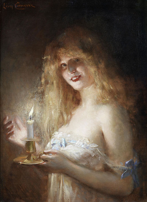 749px-L?on_Commere_A_young_lady_lit_by_candlelight (512x700, 67Kb)