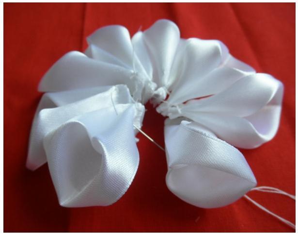 手工丝带花教程:如何制作日式丝带花 - maomao - 我随心动