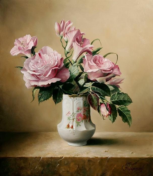 цветочные натюрморты Pieter Wagemans 9 (607x700, 103Kb)
