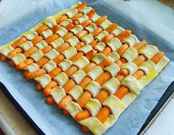 рецепт сосиски в дрожжевом тесте с фото