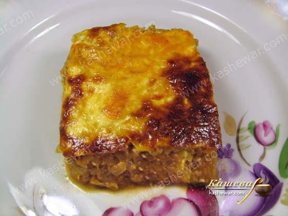 Запеканка из капусты - рецепт приготовления блюда турецкой кухни