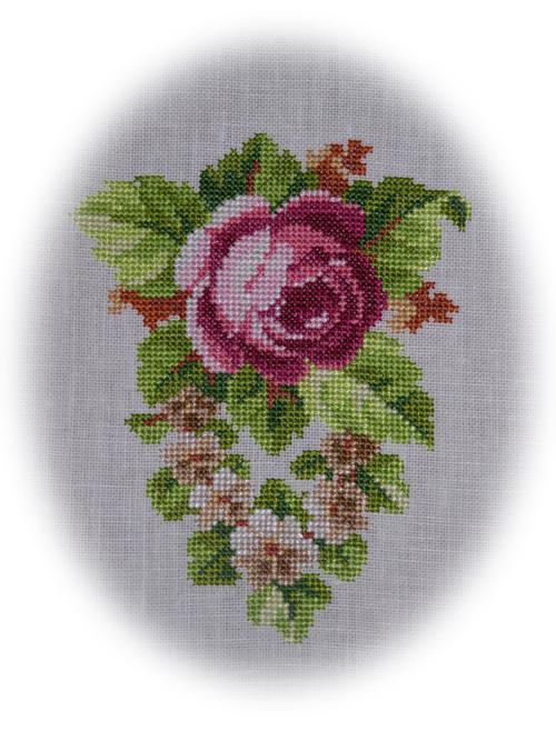 Роза-1 Схема для вышивки.
