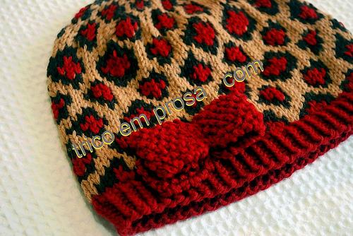 针织:提花豹纹帽子 - maomao - 我随心动