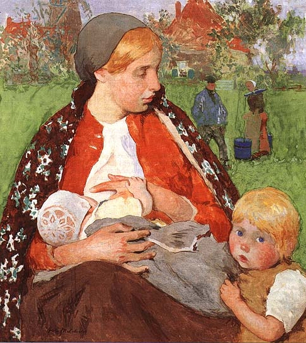 Gari Melchers, Madonna of the Fields (624x700, 394Kb)