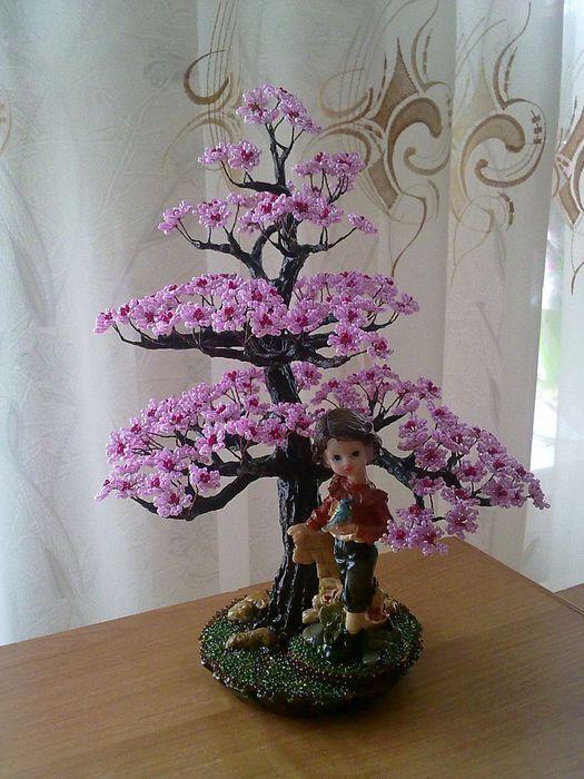Бисероплетение как сделать дерево из бисера мастер класс с пошаговым фото - Belbera.Ru