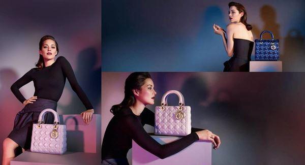 Актриса Марион Котийяр в рекламе сумок Dior. Фотографии