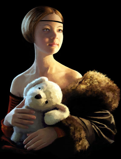 928775_Young_lady_with_a_dog_by_calirezo (400x527, 56Kb)