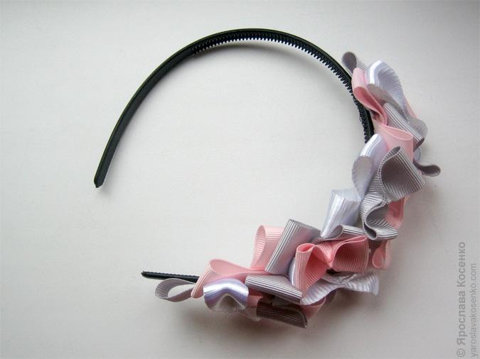 Как сделать украшение из ленты для девочки
