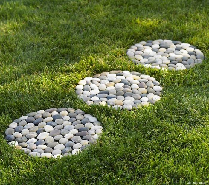 Дорожки в саду своими руками из камней фото