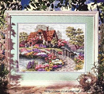 Вышивка крестом пейзажи с домиками