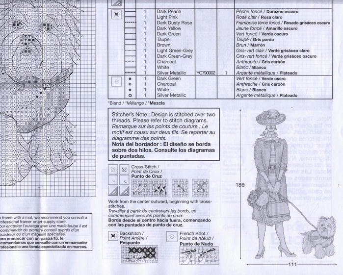 Дама с собачкой и другие схемы вышивки.  Блог Марриэтты.  Представляю вашему вниманию интересные варианты вышивки.