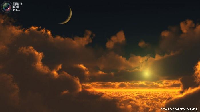 яркие краски мира луна звёзды (700x393, 85Kb)