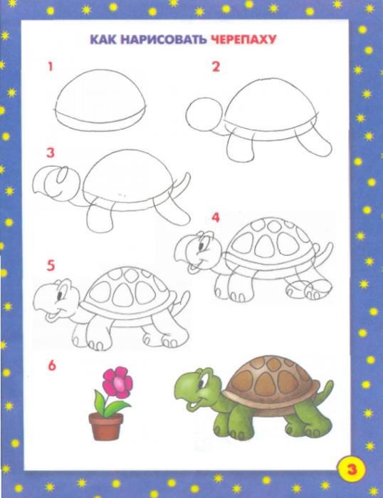 Рисование поэтапное рыбка для детей