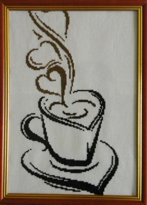 Вышивка крестом кофейной чашки