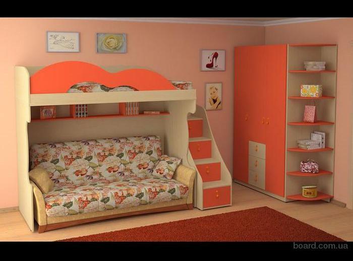 кровать-чердак двухярусная кровать (35) (700x518, 41Kb)