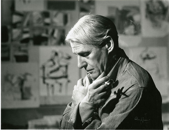 Willem_de_Kooning_in_his_studio (700x538, 62Kb)