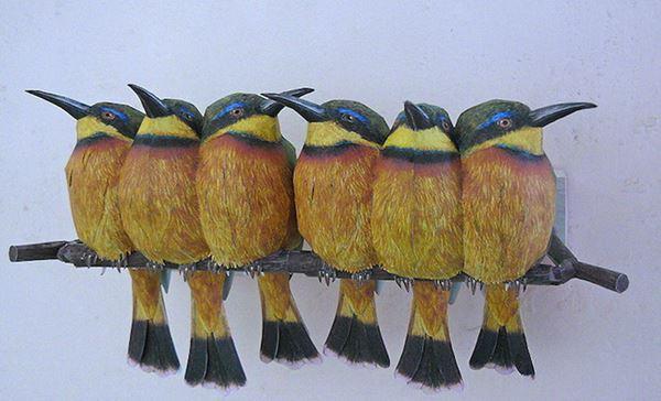 Йохан Шерфт. Яркие бумажные модели птиц