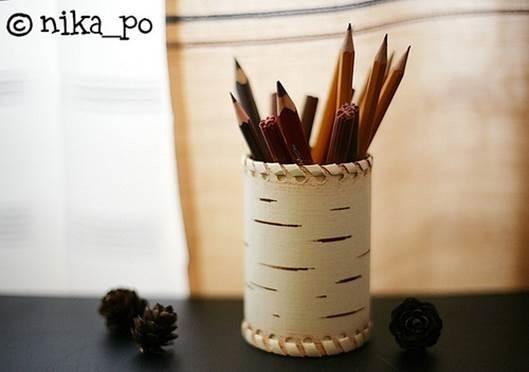 Как сделать карандашницу из консервной банки