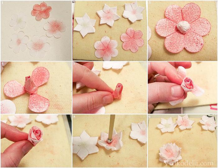 Для скрапбукинга цветы своими руками
