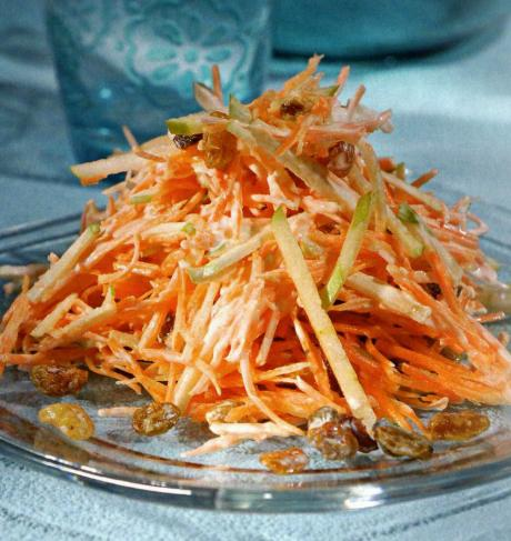 Салаты из яблок и моркови с