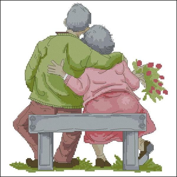 Вышивки бабушка и дедушка