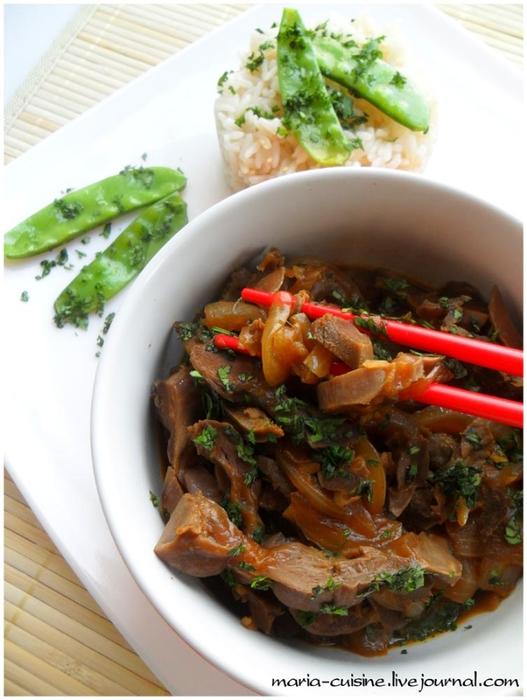 Корейский салат из куриных желудков рецепт с