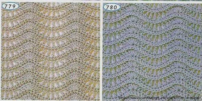 вязание крючком шарфы схемы.
