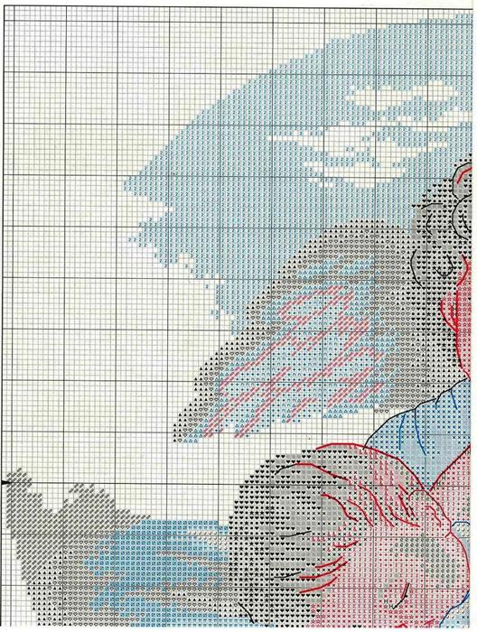 Схема вышивка с ангелом хранителем 305