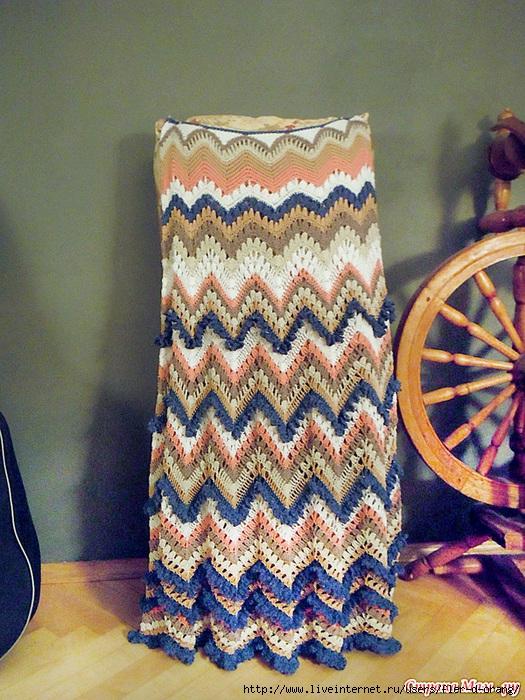 Длинная юбка-зигзаг в стиле