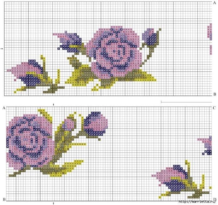 Схемы вышивки на marrietta.ru