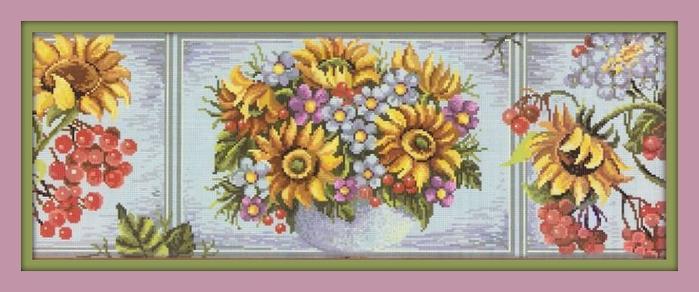 триптих с цветами (700x292, 149Kb)