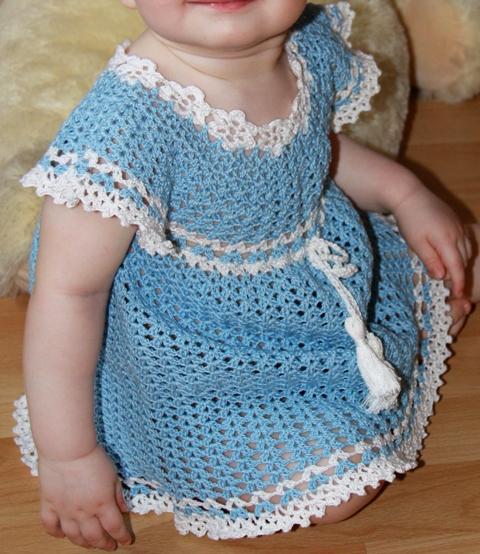 Модное платье крючком на 5 лет