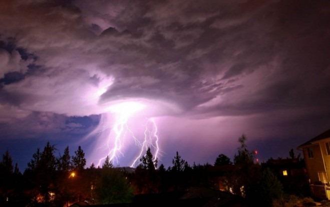 Примеры красивых фотографий молний
