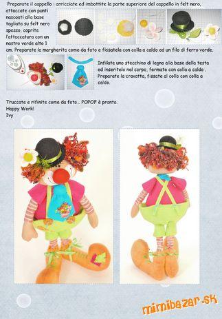 шьем игрушки. выкройка клоуна (3) (323x463, 32Kb)